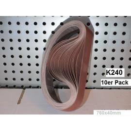 K 240  Aluoxid Schleifband 760x40mm